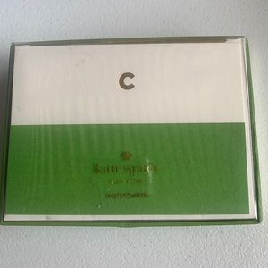 Kate spade dipped initial letter c note cards 10